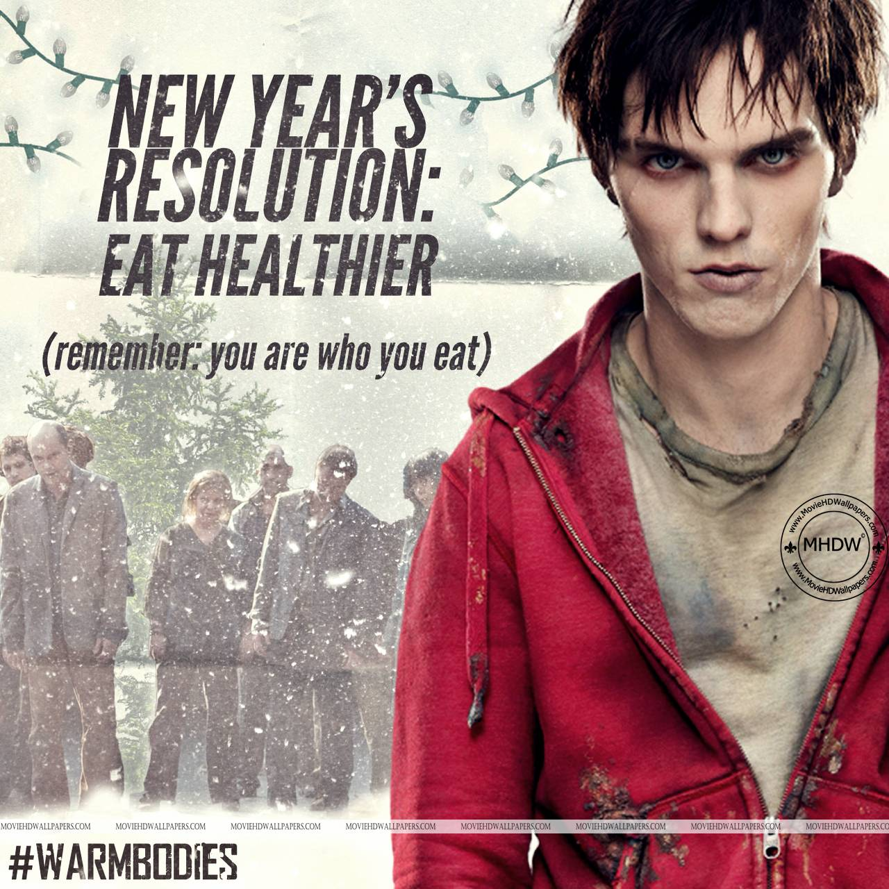 Nicholas Hoult in Warm Bodies (2013) - Movie HD Wallpapers