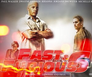 Fast And Furious 6 Red Poster