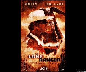 The Lone Ranger (2013) HD Red Poster
