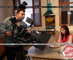 Director Prince and Bhanushree Mehra on set of Fer Mamla Gadbad Gadbad 300x250 Fer Mamla Gadbad Gadbad (2013)