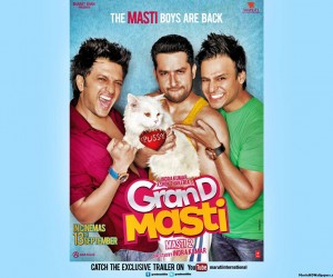 Grand Masti 2013 Poster Images Pics Photos 300x250 Grand Masti (2013)