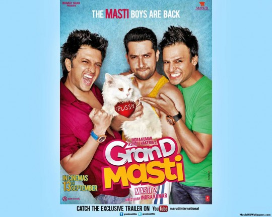 Grand Masti 2013 Poster Images Pics Photos 540x432 Grand Masti (2013) Poster, Images, Pics, Photos