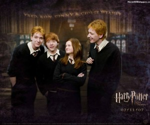 Harry Potter 5 Fred, Ron, Ginny & George Weasly