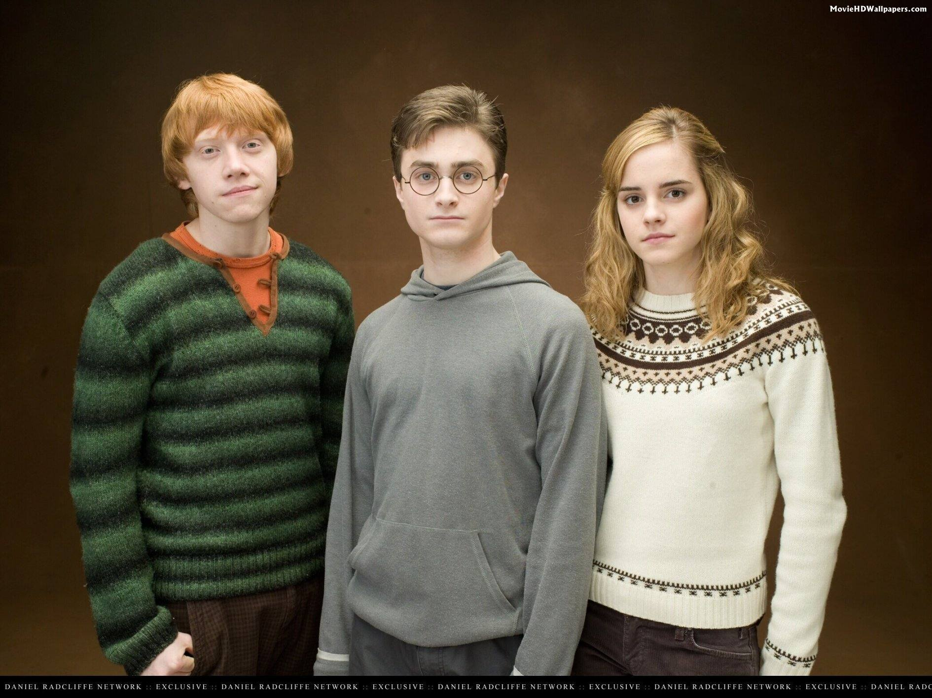 Harry ron and hermione in order of the phoenix movie hd wallpapers