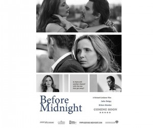 Before Midnight (2013) Black and White Poster