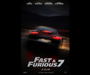Fast & Furious 7 (2014) Car Poster