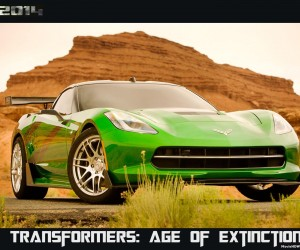 Transformers Age of Extinction (2014) Green Car