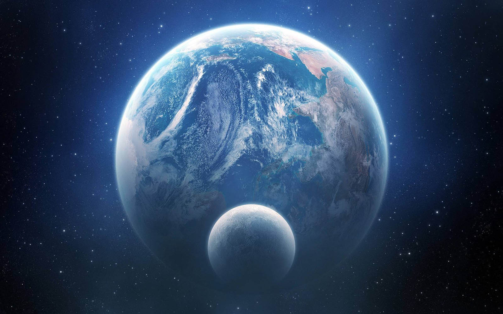 Earth And Moon Wallpapers